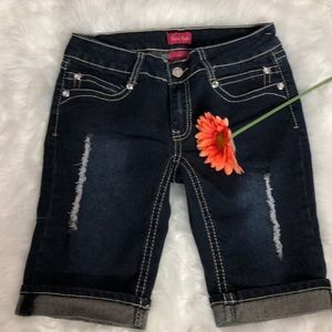 Spoiled Angel Shorts - Spoiled Angel Denim Distressed Shorts.